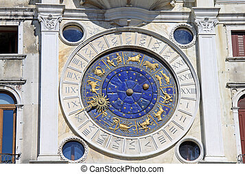 VENICE, ITALY - SEPTEMBER 02, 2012: Clock on St Marks...