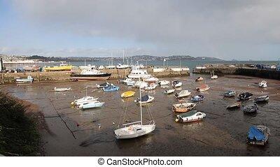 Paignton harbour Devon England pan - Paignton harbour Devon...