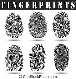 Fingerprints - Set of fingerprints, vector illustration...