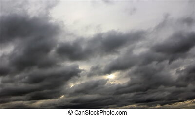 Darkening clouds overcast sky - Speed layer low clouds on...