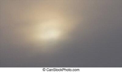 Sunrise on mist sky - Sunrise through fog mist sky...