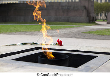 Field of Mars Eternal flame - Russia St Petersburg Field of...
