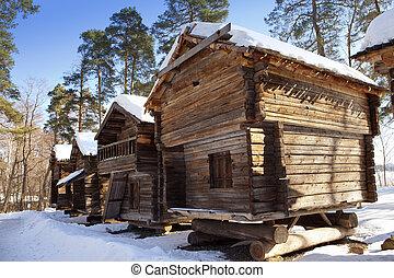 Seurasaari island, Helsinki, Finlan - Rustic wooden house in...