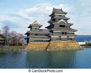 Matsumoto Castle, Japan. - A historic castle in Matsumoto...