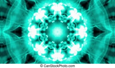 Abstract emerald blue kaleidoscope - Abstract emerald blue...