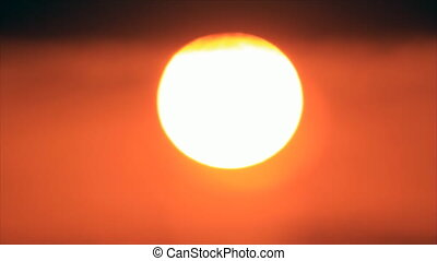 Sun disk in gleam in the clouds - Sun's disk in gleam in the...
