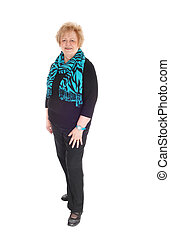 Full length image of older woman. - A full body image of an...