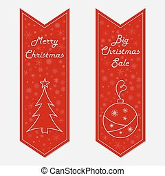 Christmas banners in retro style