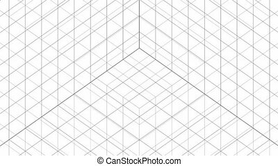 Structure Grid Animation On White Background