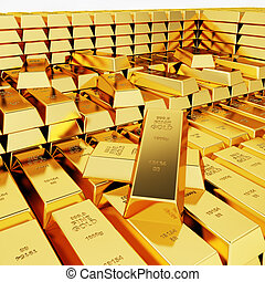 Great amount of gold bars - Lots of gold bars in the depot