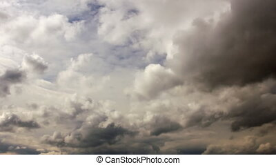 Overcast time-lapse - Ovecast sky time-lapse view