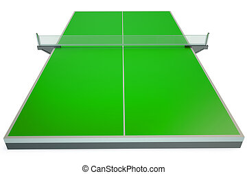 Table tennis isolated on white background
