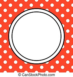 Vector frame with polka dots