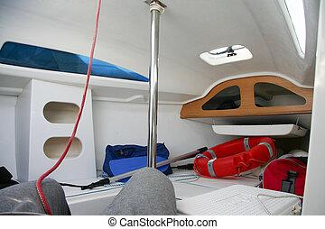 Small sailboat cabin