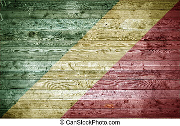 Wooden Boards Congo Brazzaville - A vignetted background...