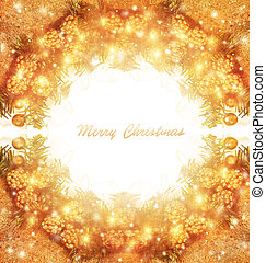 Merry Christmas greeting card with text space, beautiful...