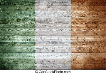 Wooden Boards Ireland - A vignetted background image of the...