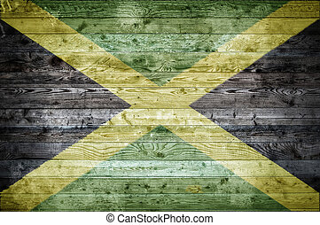 Wooden Boards Jamaica - A vignetted background image of the...