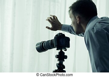 Paparazzi with camera - Image of paparazzi with camera...