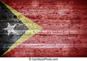 Wooden Boards Timor Leste - A vignetted background image of...