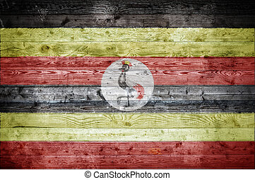 Wooden Boards Uganda - A vignetted background image of the...