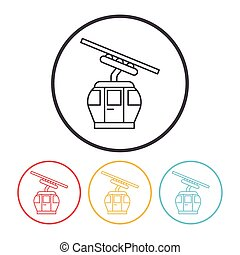cable car line icon