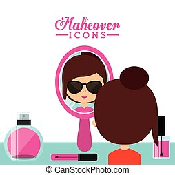 makeover female design - makeover female design, vector...