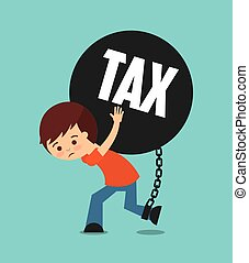 tax liability design, vector illustration eps10 graphic