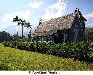 Old Wai\'oli Hui\'ia Church in Hanalei - Old church in town...