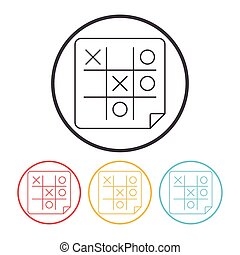 Tic Tac Toe line icon