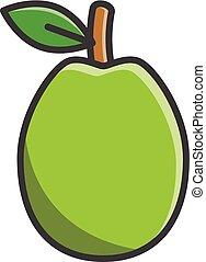 Guava vector cartoon illustration