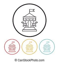 merry-go-round line icon