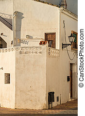 Mediterranean architecture of an old town on Costa Blanca,...