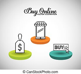 buy online design, vector illustration eps10 graphic