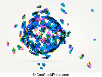 Abstract geometric technology vector design element Template...