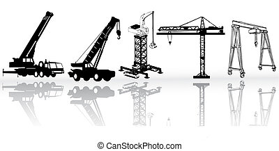 Construction vehicles - vector collection