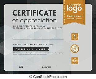 Modern certificate frame design template - Modern...