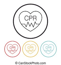 CPR line icon