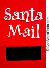 Santa Claus Mail Box on Christmas Xmas holiday Concepts and...