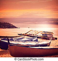 Lloret de Mar Sa Caleta beach in costa Brava of Catalonia