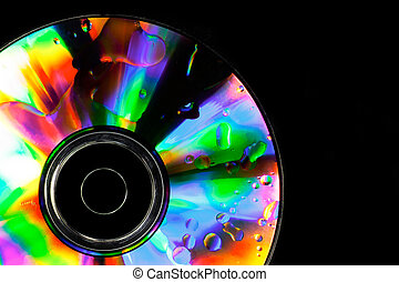 Psychedelic CD - Satured colors for this CD with oil drops...