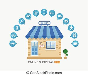 online shopping.vector