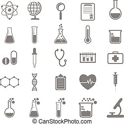 Set of Science and chemistry icons,