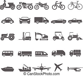 Transportation icon set.vector