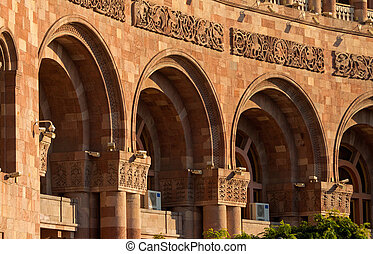 The historic center of Yerevan closeup - The historic center...