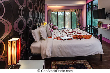 Modern styles of bedroom prepare for a lover