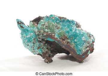 rosasite and calcite - vibrant blue rosasite and calcite...