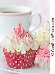 Afternoon tea - Selection of delicious cupcakes served with...