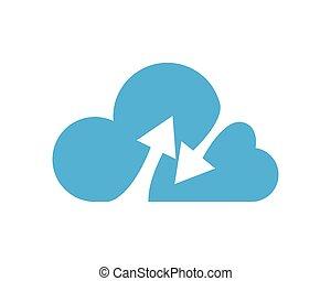 Cloud technology - cloud technology vector template design