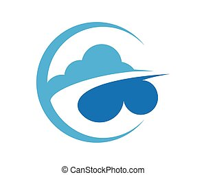 Cloud technology - cloud technology vector template design